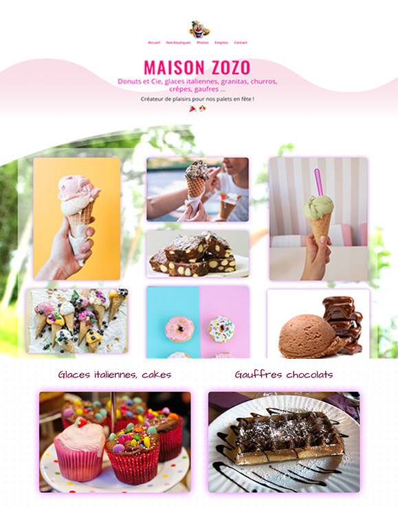 image du site Internet MAISON ZOZO par Riviera-Creations.com
